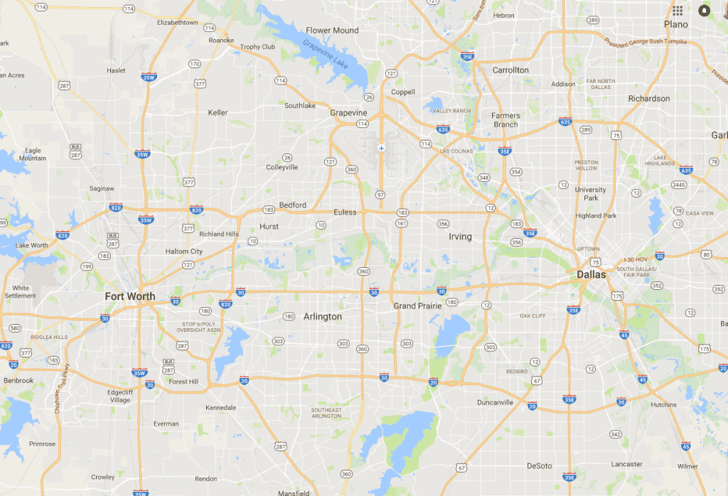 our service area DFW Metro