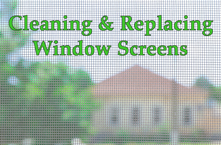 Window Screens Cleaning & Repair